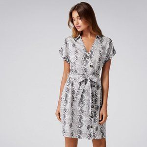 NEW Ever New Snake Print Button Dress | Size 2